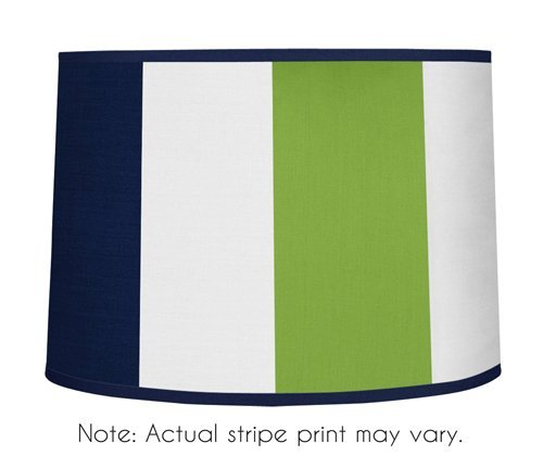 Sweet Jojo Designs Navy Blue and Lime Green Stripe Lamp Shade