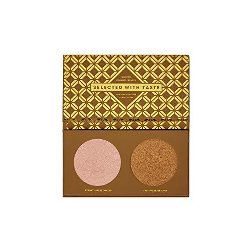 ZOEVA Caramel Melange Highlight Face Palette - Powder Face Highlighter Makeup, Flattering for All Skin Tones, Highly-Pigmented Shimmer, Fragrance-Free, Paraben-Free
