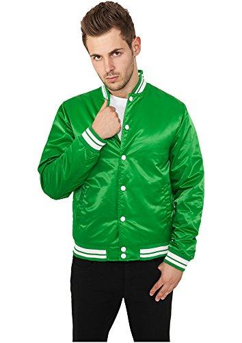 Urban Classics Herren Mens Shiny College Jacket Sweatjacke, Mehrfarbig (Cgr/Wht 00078), Large