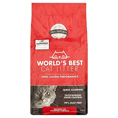 World's Best Cat Litter Multiple Cat Clumping Formula (15 lbs) (1)