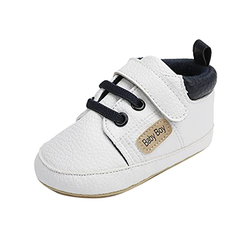 USYFAKGH Baby Shoes Boys Girls Infant Sneakers Infant Toddler Baby Girls Boys Leather Sports Sandals Shoes Prewalker Sneakers Sandals Rain Shoe Toddler White 4