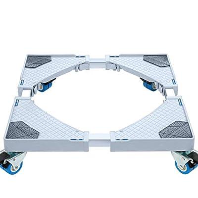 YQ&TL 4 Wheel Universal Models Removable Wheeled Washing Machine Refrigerator Base Washing Machine Base Bracket Rack