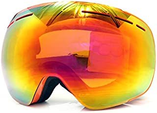 Vhccirt OTG Ski Goggles 100% 400UV Protection Anti-Fog Men Women Over The Glasses Functional Snowboard Goggles Soft TPU Frame