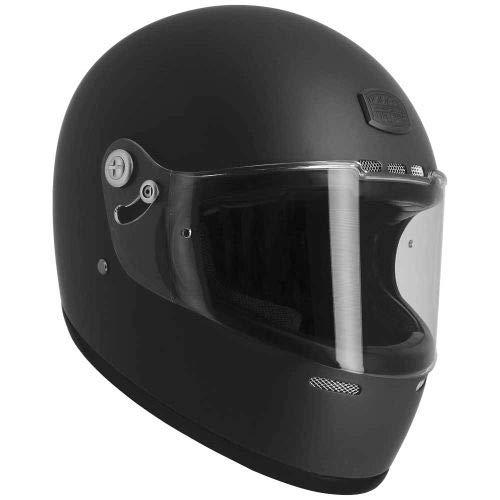 Astone Helmets - Casque intégral Vintage GT Rétro - Casque ultra-léger au look rétro - Casque vintage homologué en fibre de verre et alcantara - matt black S