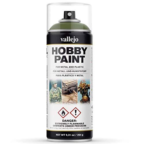 Hobby Spray Paint Vallejo Perfecta Para Modelismo | 400 Ml./9,31 Oz./264 G. | Color 027 Verde Goblin