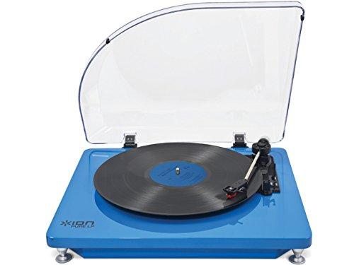 ION AUDIO iT51B Pure LP – Tocadiscos (USB), color azul