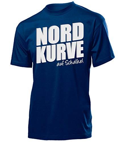 Nordkurve auf Schalke 6355 Fussball Fanshirt Fanartikel Fan Geschenk Geburtstag Männer Herren Fun-T-Shirts Navy XL