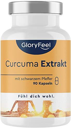 Curcuma Extrakt (95{e4a55da9de22375d8d241aee1e12a79be014aaeaea97d7f57a1ead46923285f5}) plus Bio Curcuma Pulver - 90 vegane Kapseln (3 Monate) - Curcumin-Gehalt EINER Kapsel entspricht ca. 11.100mg Kurkuma - Laborgeprüft, hochdosiert in Deutschland hergestellt