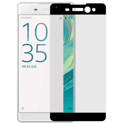 ELICA 3D Glass Edge to Edge Full Front Body Cover Tempered Glass for Sony Xperia XA Ultra - Black