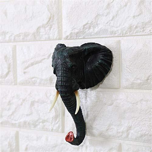 CCLLtuy Creativo Animal Elefante decoración de la Pared Gancho Puerta Puerta Gancho Colgador Bolso Llavero Titular de Claves Multiusos decoración decoración casero decoración