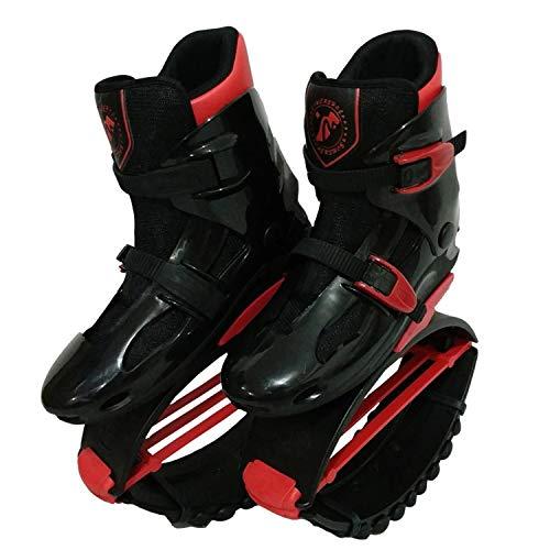 WeeLion Unisex Fitness Hüpfschuhe - Kinder Erwachsene Anti-Schwerkraft-Laufschuhe Känguru Hüpfschuhe - Fitness/Tanzen/Laufen/Basketball, eine Vielzahl von optional,Adultredblack,XL