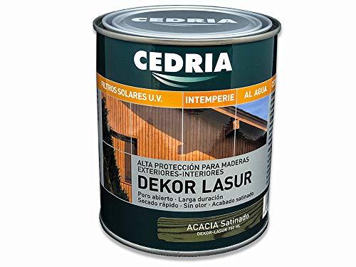 Lasur protector madera exterior al agua Cedria Dekor Lasur 750 ml (Acacia)
