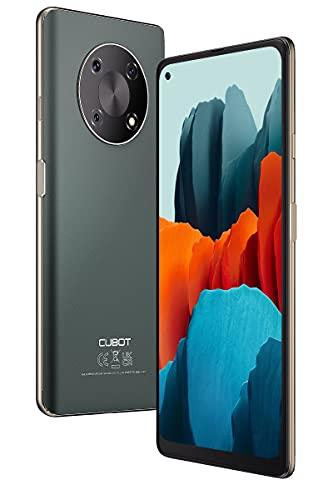 Smartphone Libre 4G, Cubot Móvil Barato y Bueno MAX 3 Pantalla 6,95'' Cámara 64MP+16MP con IA 4GB+64GB 256GB Expandible Batería Duradera 5000mAh, Android 11 con NFC Sensor de Huella Face ID, Verde