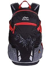 EGOGO 20 liter Wandelrugzak Fietsen Rugzak Bergbeklimmen Tas met Regenhoes Rugzak voor wandelen, kamperen, outdoor reizen S2321 (Zwart)