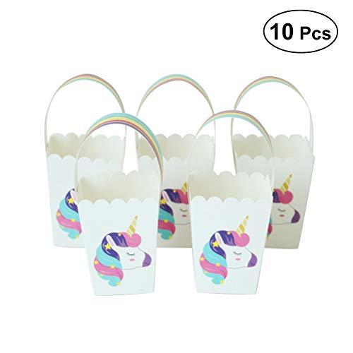 YeahiBaby Bolsos Rainbow Unicorn Candies - Favores de Fiesta para el cumpleaños de la Boda - Paquete de 10