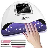 Suruid 168W Lampada Unghie LED UV Professionale per Manicure/Pedicure, Fornetto Unghie Con Sensore a Infrarossi & Display LCD, Sensore Automatico Con La Possibilità Di Lmpostare 4 Timer 10/30/60/99S