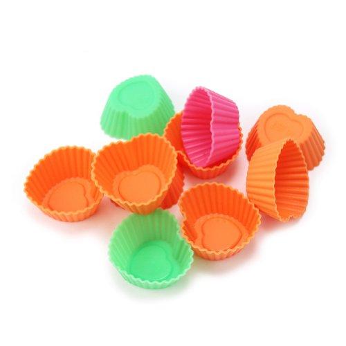 RHX moules coeur spécial nappage en silicone pour chocolats, sucreries, desserts, lot de 10