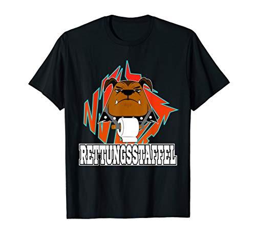 Lustiges Hunde Rettungsstaffel mit Toilettenpapier T-Shirt