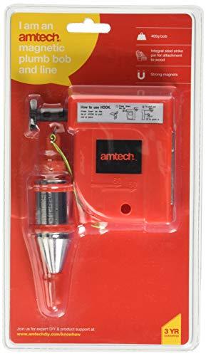 Am-Tech - Sistema con filo a piombo e piombino, ideale per la verifica delle superfici piane, 400 g