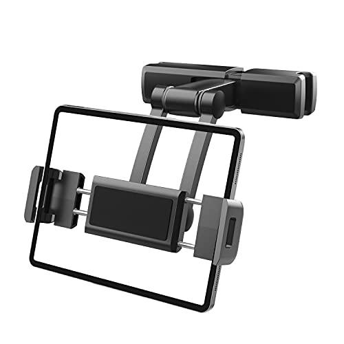 Soporte Tablet Coche, Tablet para Coche Reposacabezas con Apoyo 360 Rotación para 5,5~12,3 Pulgadas iPad, iPhone, Galaxy Tab, Huawei Mediapad, Nintendo Switch et d'autres Smartphones