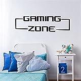 Gran área de juego jugador de juegos pegatinas de pared sala de juegos habitación de los niños videojuegos tatuajes de pared vinilo decoración para el hogar A4 56x14cm