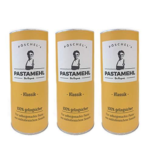 Pöschels Pastamehl Italienischer Hartweizengrieß Grießmehl Nudeln Pasta (Klassik_3er)