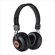 House of Marley Positive Vibration 2: Over-Ear Headphones with Microphone, Wireless Bluetooth Connectivity, and 10 Hours of Playtime (Black)
