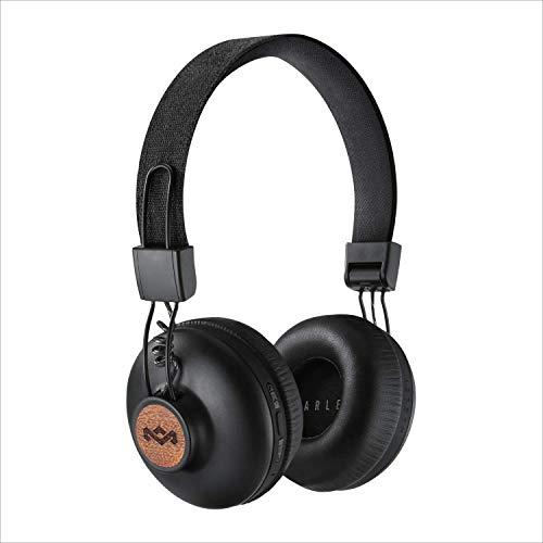 House of Marley Positive Vibration 2 Cuffie Wireless, Auricolari Over Ear Senza Fili con Bluetooth, Durata Batteria 12 Ore, Diver da 40 mm, Microfono Incorporato, Comandi Integrati, Nero