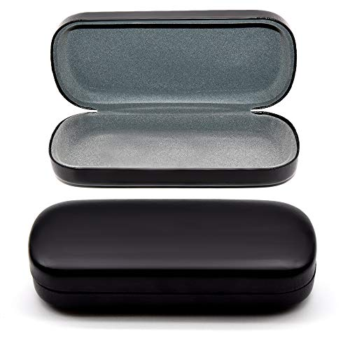 Black Glasses Case Hard Shell | Medium Size | Eye Glasses, Reading...