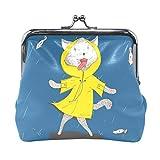Monedero de piel con diseño de pez de gato, para mujeres y niñas
