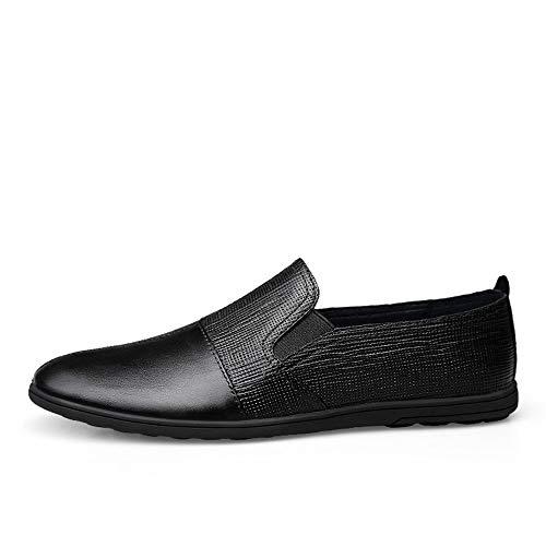 Heren Oxford Schoenen Oxford Schoenen Voor Heren Formele Schoenen Slip Op Stijl OX+Microvezel Lederen Splicing Lichtgewicht Flexibele Britse Stijl Rijlaarzen Duurzame Jurk Oxford Schoenen