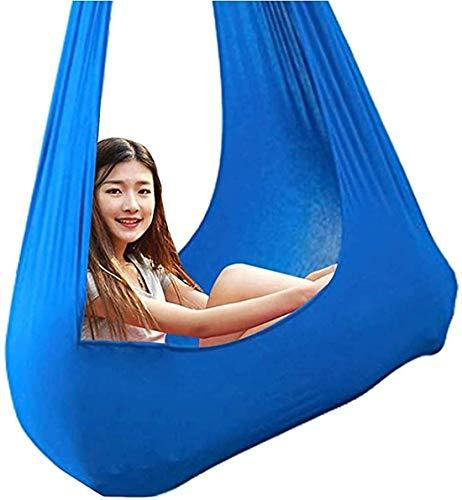 Swing terapéutico elástico para niños Merodel de abrazos para sujetador para colgar para exteriores Bolsa colgante para autismo ADHD Asperger Asperger Integración sensorial,Azul,100*280CM/39*110in
