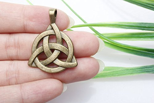 3pcs Own Charm ~Celtic Knot Charms, Antique Bronze 2 Sided Celtic Knot Pendants,triquetra, Celtic Triquetra Knot, Trinity Knot 30x29mm