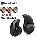 TechKing Bluetooth Earpiece Wireless Headphone Mini Invisible Earbud USB Chargers Tiny Smallest Headset