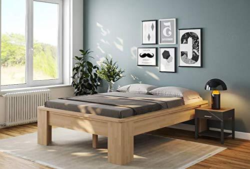 Komfortbett 200x200 erhöhtes Bett Buche Hotelbett Holzbett Komforthöhe - (4145)