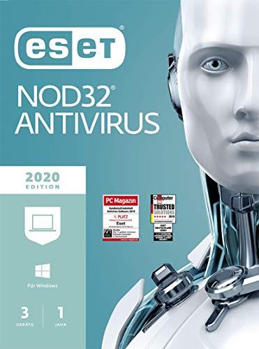 ESET NOD32 Anivirus 2020 | 3 Geräte | 1 Jahr | Windows (10, 8, 7 und Vista), macOS und Linux| Download