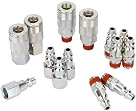 WYNNsky Air Compressor Accessories Fittings, 1/4''NPT Quick Connect Air Coupler and Plug Kit, I/M Type, 14 Pieces Air Tools Fittings Set