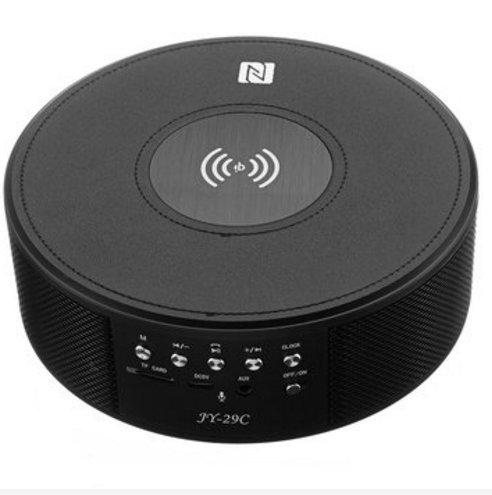Masunn Jy-29C Qi Wireless Charger Bluetooth Wireless Nfc Speaker Music Player met wekker