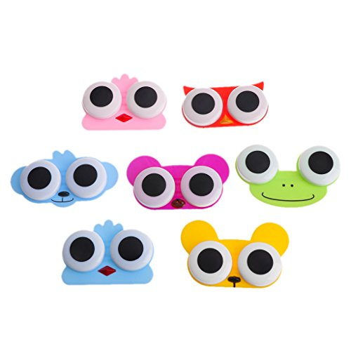 1PCS Sweet Cartoon 3D Big Eyes Kontaktlinsen Box Fall Eule Frosch Tierform Kontaktlinsen Fall