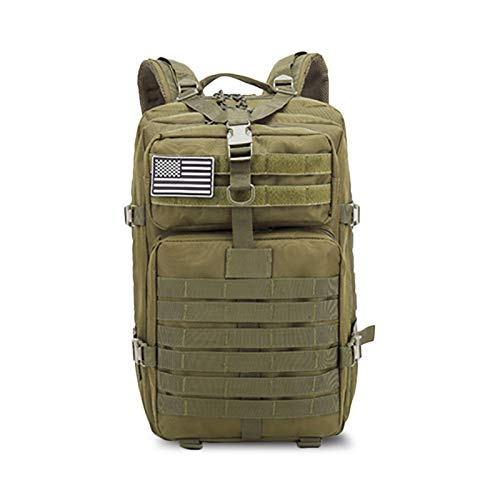 50L Large Capacity Men's Army Military Tactical Backpack Soft Back Outdoor Waterproof And Insect-Proof Rucksack Hiking Camping Hunting Bag,Green