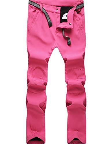 DENGBOSN Donna Pantaloni Trekking Invernali Impermeabile Pantaloni Softshell Caldo Outdoor Pantaloni...