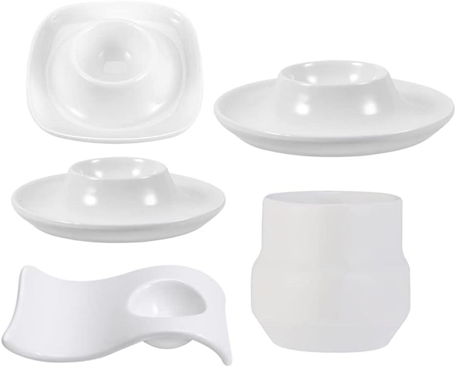 Hemoton 5Pcs Ceramic Egg Cup Topics on TV Holders Porcelain Fort Worth Mall Stand Rac
