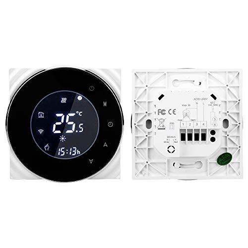 Termostato de calefacción de agua digital programable, controlador de temperatura digital Termostato térmico de calentamiento Termostato de calentamiento AC 95-240V / 50-60Hz Plastic