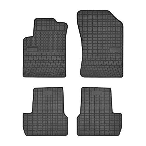 Tapis de Voiture - sur Mesure pour C3 / DS3 (2009-2020) - 4 pièces - Tapis de Sol antidérapant pour Automobile - Souple - 100% Caoutchouc
