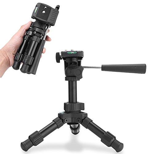 Trípode de Mesa Mini Soporte de trípode de cámara compacta de Viaje de sobremesa Extensible con Niveles Dobles Aptos reemplazo para la cámara Canon Nikon DSLR
