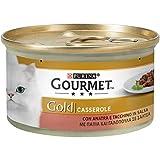 Purina Gourmet Gold Húmido - Cacerolas con Pato y Pavo en Salsa, 24 latas de 85 g Cada una de 85 g