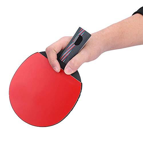Tbest Raqueta de ping pong de mesa, 1 unidad de pala, superligera, accesorio para aficionados, principiantes y expertos (penhold, Shakehand) (Penhold)