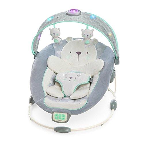 Ingenuity, Twinkle Twinkle Teddy Bear, Babywippe mit Vibrationen, Lichtern, Melodien, Lautstärkeregler und vielem mehr
