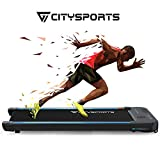 CITYSPORTS Electric Walking Machine 440W Motor, <span class='highlight'><span class='highlight'>Treadmill</span></span> Bluetooth Built-in Speakers, Adjustable Speed, LCD Screen & Calorie Counter, Ultra Thin and Silent, Intended for Home/Office