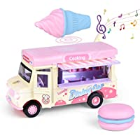 Fun Little Toys Ice Cream Pull Back Truck with Light and Sounds
